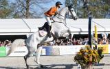 Tim lips tijdens showjumping Military Boekelo